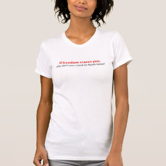 Se o t-shirt das mulheres dos sustos da liberdade