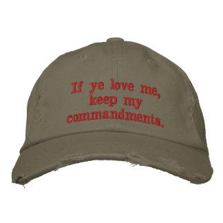 Se o YE me ama, mantenha meus mandamentos.  14:15 Boné Bordado