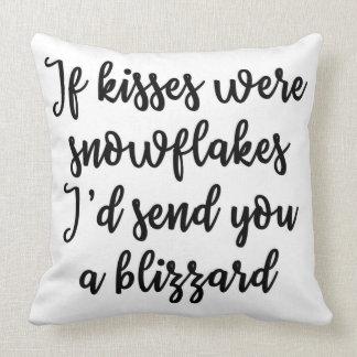 Se os beijos eram travesseiro dos flocos de neve almofada