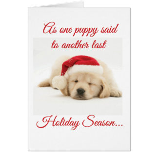 Se os filhotes de cachorro poderiam falar o cartão