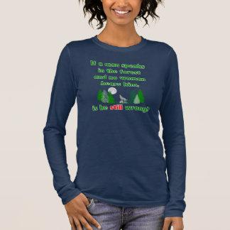 Se um homem fala na camisa lunática da floresta