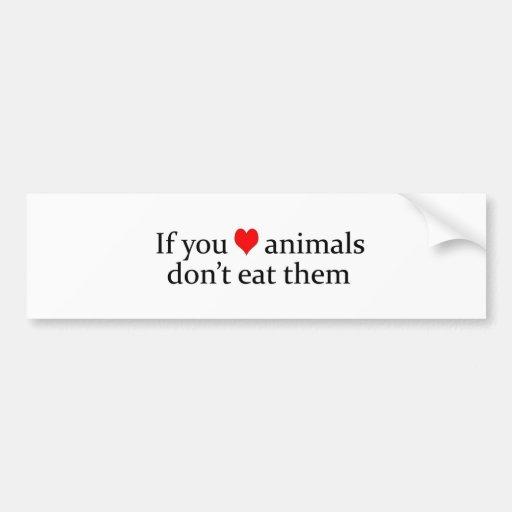 se você ama animais adesivo
