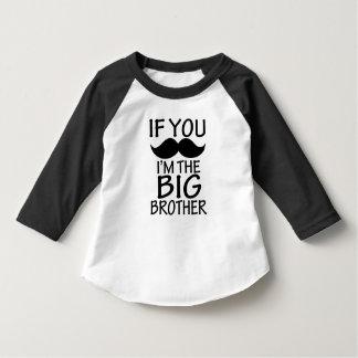 Se você bigode, mim é a camisa engraçada do big camisetas
