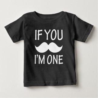 Se você bigode, mim é uma camisa engraçada do