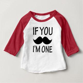 Se você bigode mim é uma camisa engraçada do bebê t-shirt