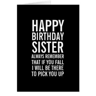 Se você cartão engraçado do feliz aniversario da
