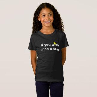 Se você deseja em cima de uma estrela camiseta