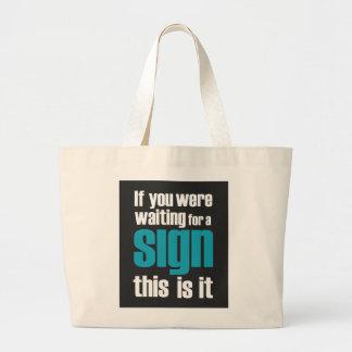 se você era… sacos de compras do slogan bolsas