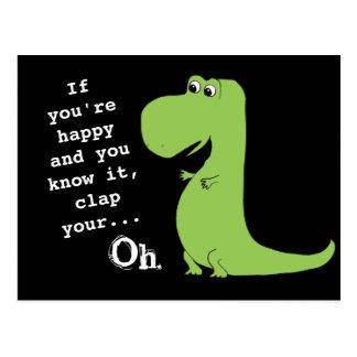 Se você está feliz aplauda o cartão engraçado do