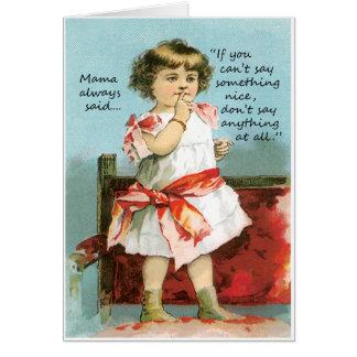 Se você não pode dizer algo cartão vazio agradável