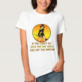Se você não pode voar com as meninas grandes t-shirt