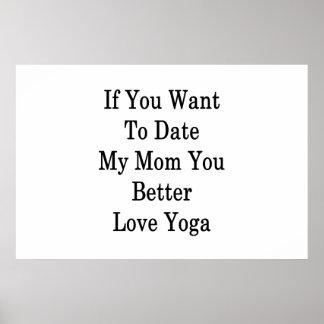 Se você quer até agora minha mamã você ama melhor pôster