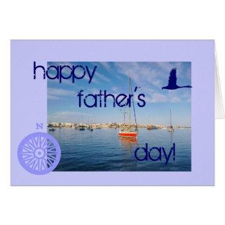 Seascape do dia dos pais cartão comemorativo