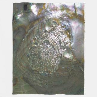 Seashell cintilante do olmo, natureza bonita cobertor de velo
