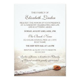Seashell da cerimonia comemorativa | na praia convite 12.7 x 17.78cm