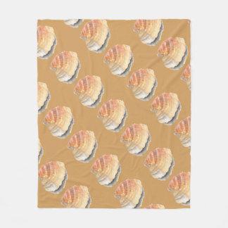 Seashell do berbigão, alaranjado e amarelo da cobertor de velo