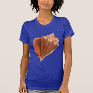 Seashell do Conch da aguarela Camisetas