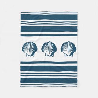 Seashells e listras cobertor de velo
