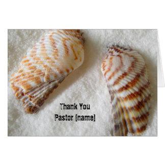 Seashells no obrigado dos cleros do pastor da cartão comemorativo