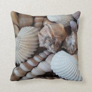 Seashells, praia do verão da natureza do travesseiros