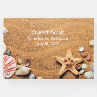 Seashells que Wedding o livro de hóspedes