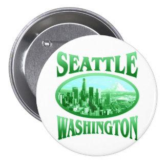 Seattle Washington Bóton Redondo 7.62cm