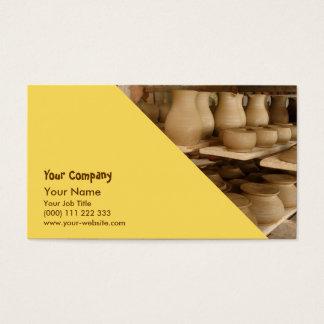 Secagem da cerâmica cartão de visitas