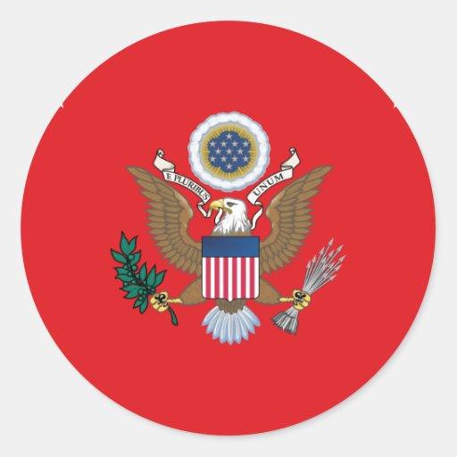 Secretário dos Estados Unidos do exército Adesivo Em Formato Redondo