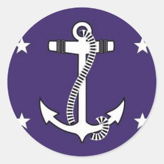 Secretário dos Estados Unidos do marinho Adesivo