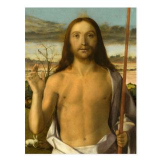 Século XV da bênção do cristo Cartão Postal