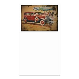 sedan do clube dos anos 30 em um partido da praia modelos cartão de visita