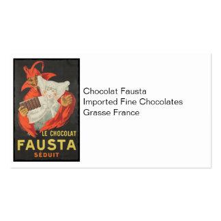 Sedução do chocolate de Le Chocolat Fausta Seduit Modelos Cartões De Visita