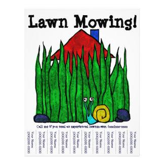 Sega do gramado! Insecto Panfletos Coloridos