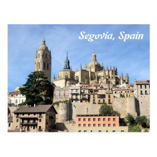Segovia, cartão do calendário da espanha 2014
