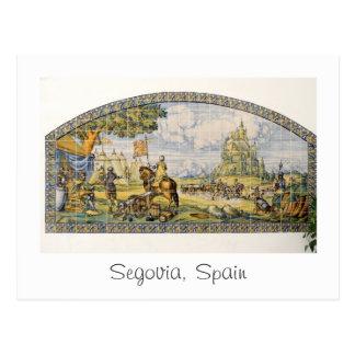 Segovia, cartão do calendário da espanha 2015