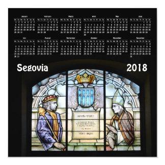 Segovia, cartão magnético do calendário da espanha