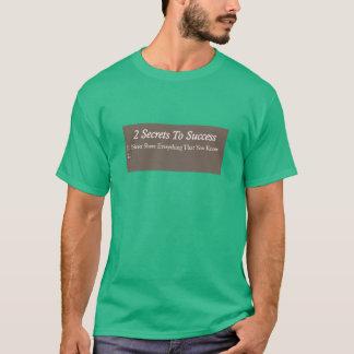 Segredos ao sucesso camiseta