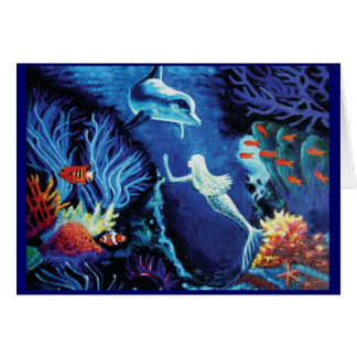 Segredos do recife de corais - cartão da sereia &