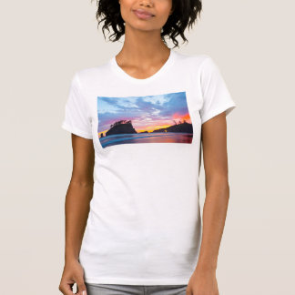 Segunda praia no por do sol, Washington Camiseta