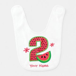 Segundo aniversário da melancia babador de bebe