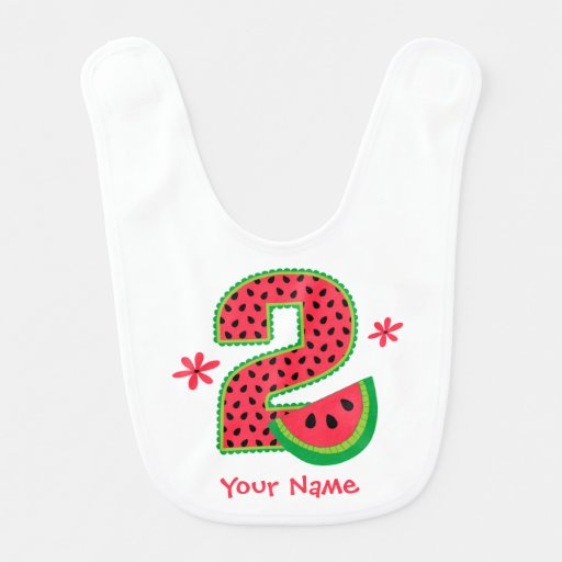 Segundo aniversário da melancia babador infantil