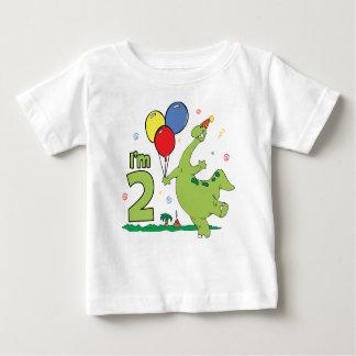 Segundo aniversário de Dino Camiseta Para Bebê