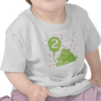 Segundo aniversário do bebê de Dino Camisetas