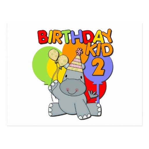 Segundo aniversário do hipopótamo cartão postal
