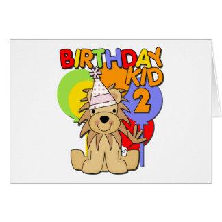 Segundo aniversário do leão cartao