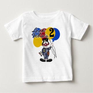 Segundo aniversário do palhaço de circo camiseta para bebê