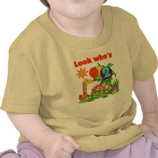 Segundo aniversário do safari camisetas