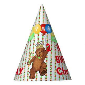 Segundo aniversário real do costume do urso chapéu de festa