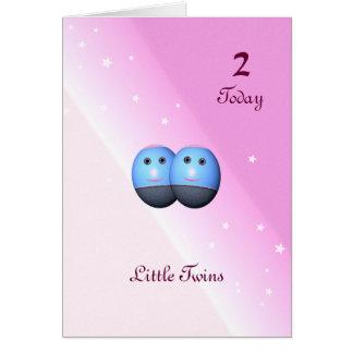 Segundo cartão de aniversário para meninas gêmeas