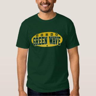 Segundo grau de Gordo; Onda verde T-shirts